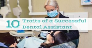 Students practicing their dental assisting skills in our classroom at Pacific Northwest Dental Assisting School. Image caption: 10 traits of a successful dental assistant.